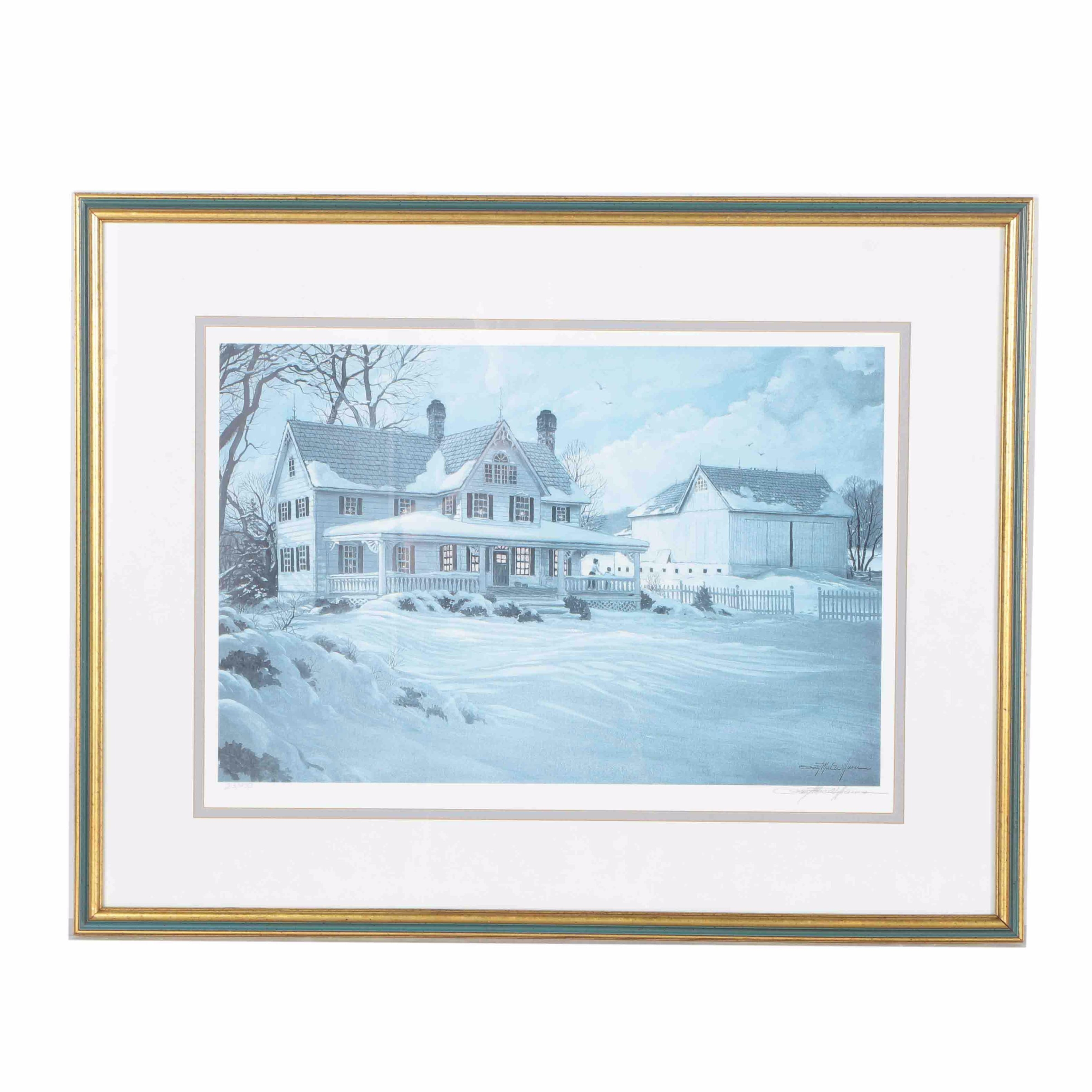 Ray MacWilliams Limited Edition Offset Lithograph of a Winter Landscape
