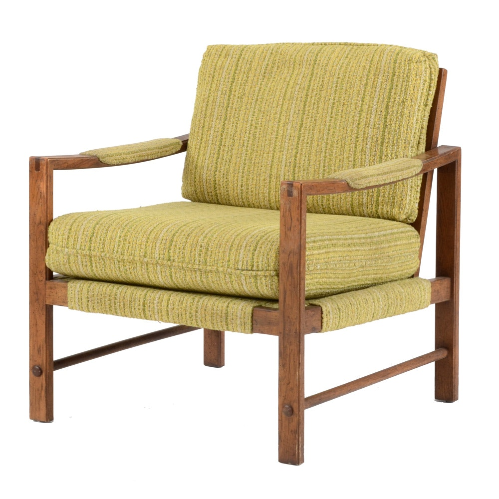 Drexel Mid-Century Pecan Arm Chair