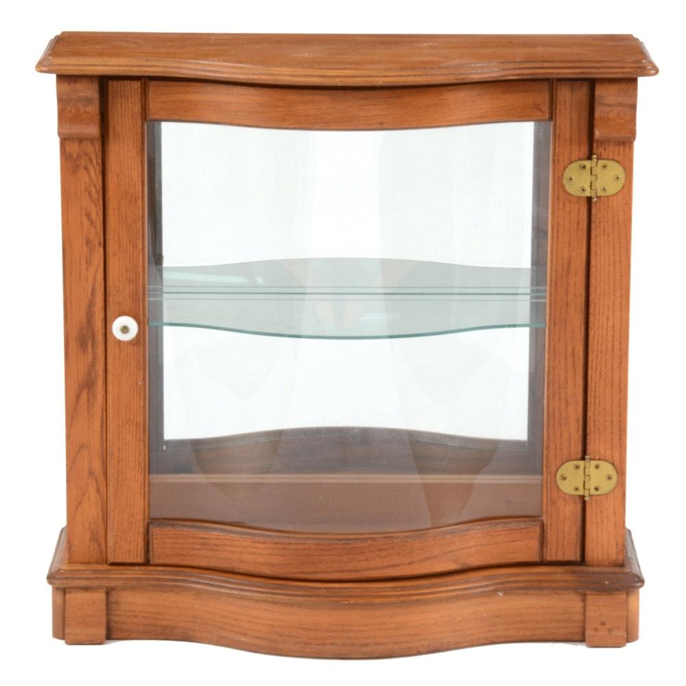 Oak Wood Display Cabinet