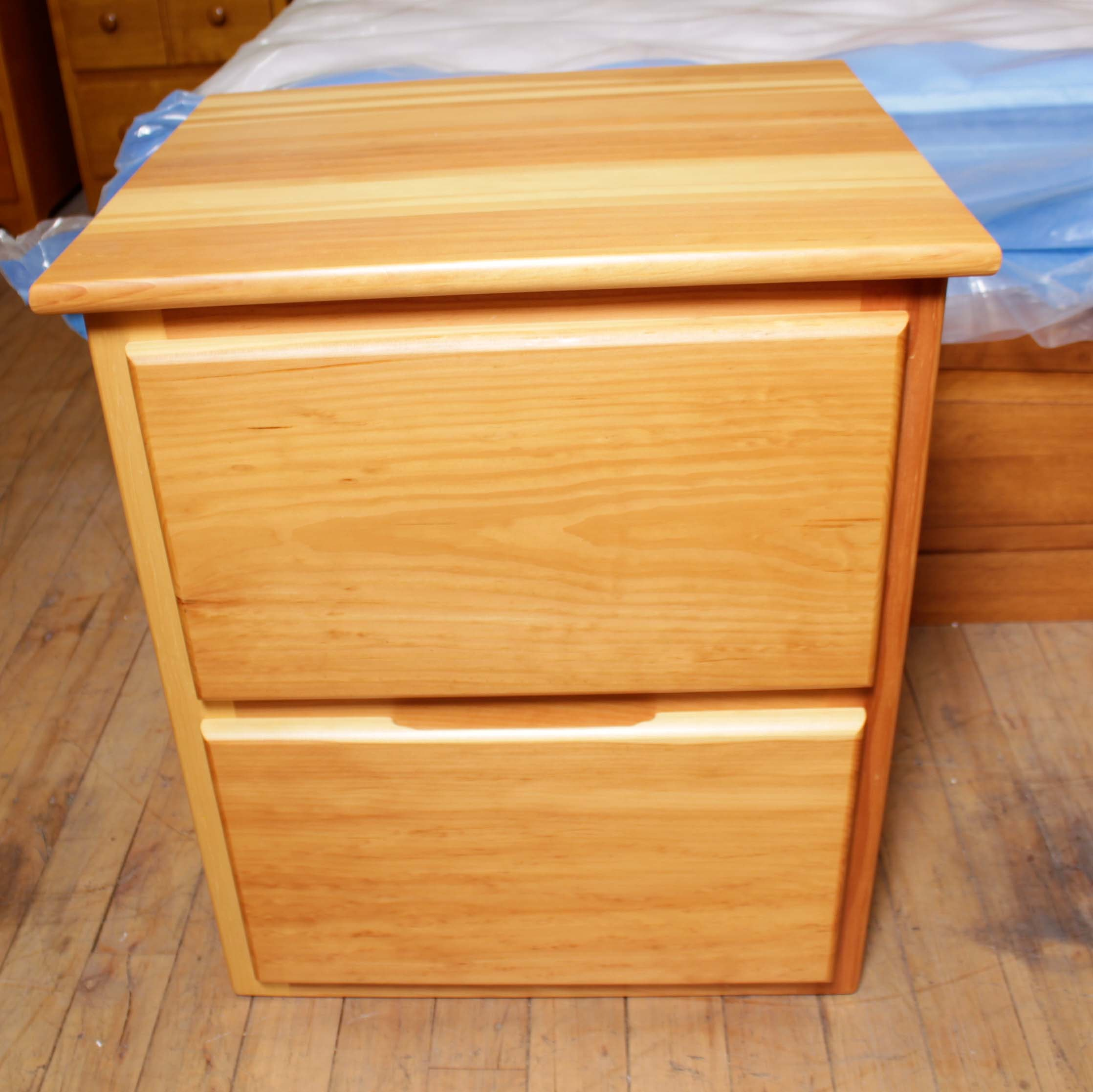Contemporary Pine Nightstand