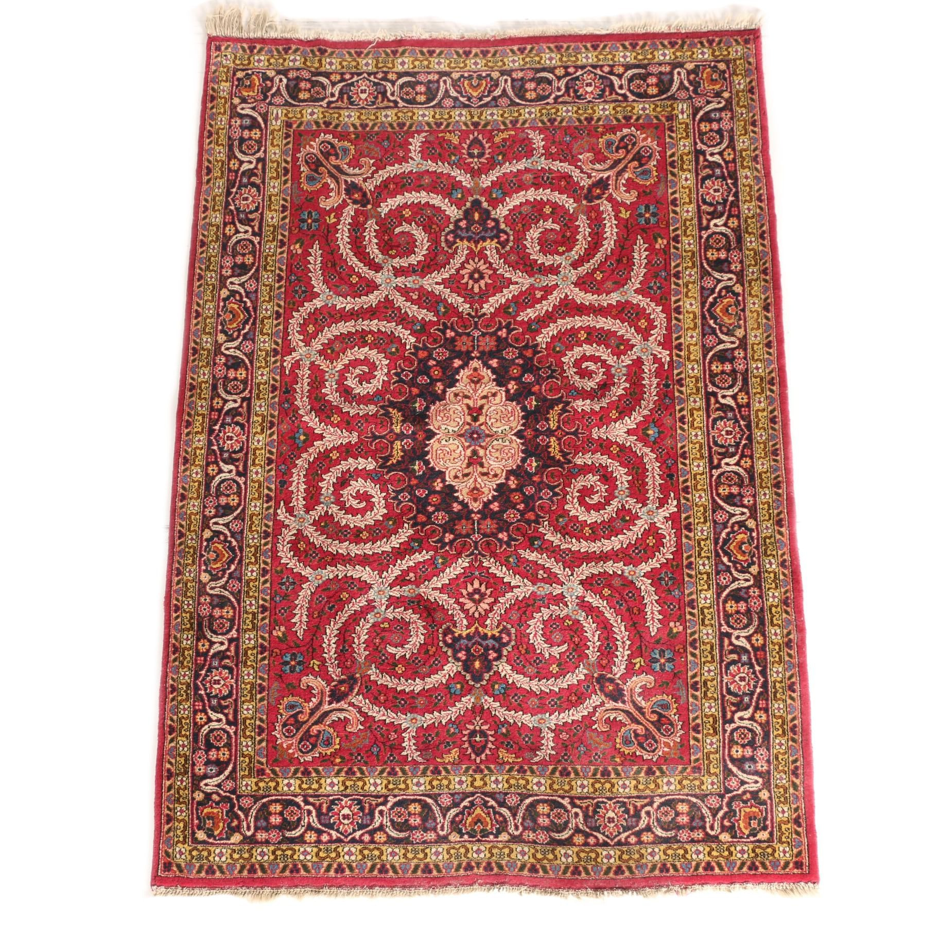 Handwoven Floral Area Rug