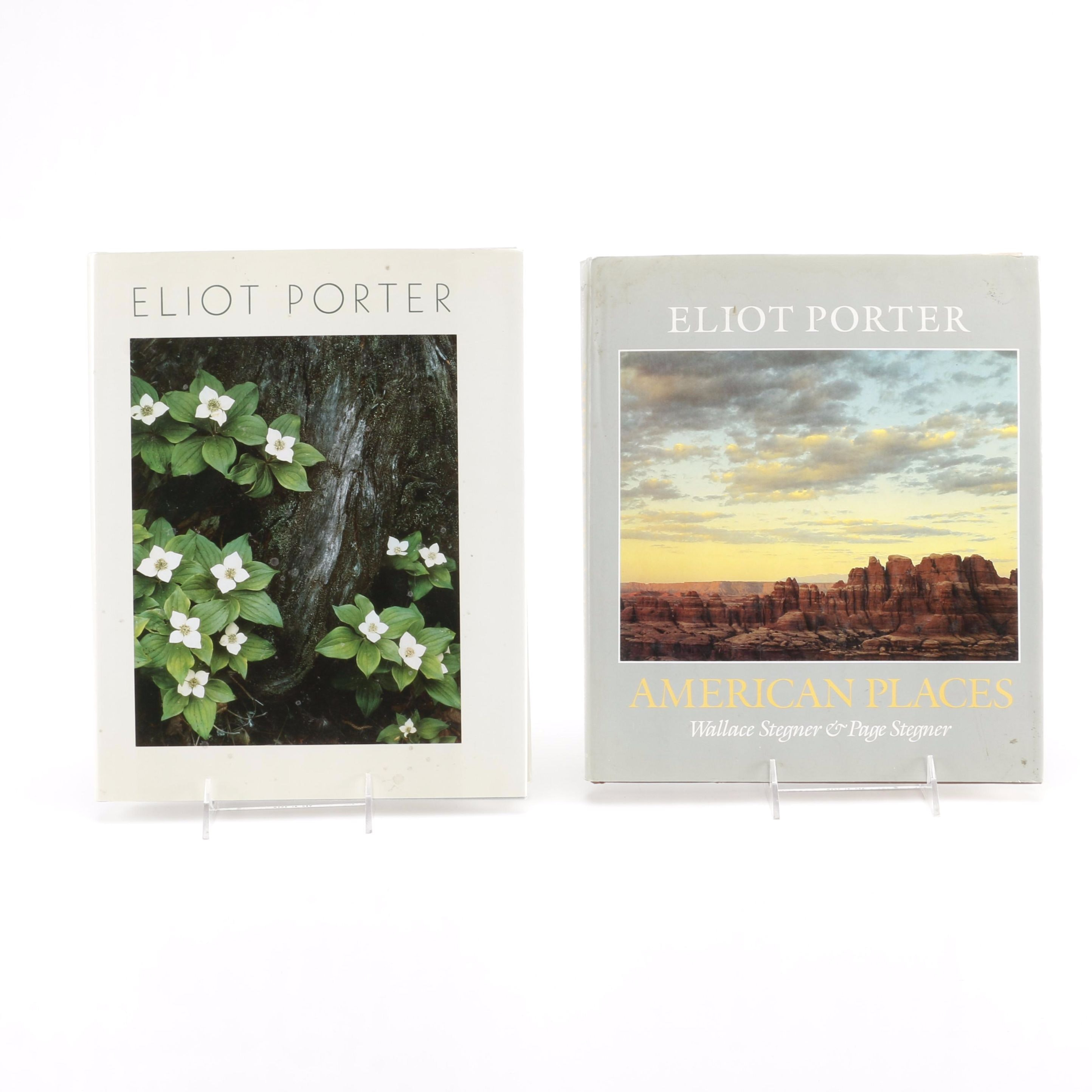 Eliot Porter Photography Books With Note by Wallace Stegner