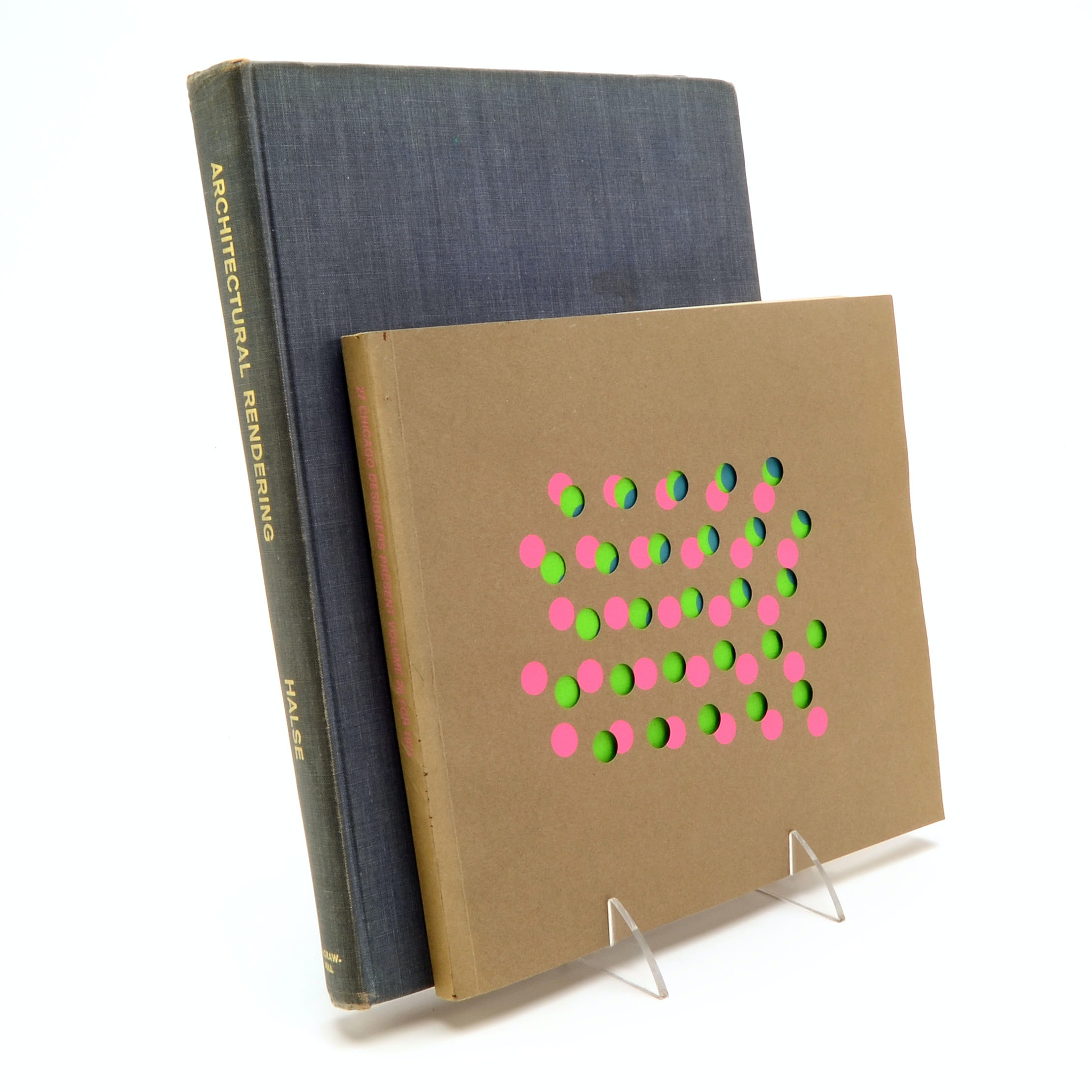 Vintage Graphic Design and Architectural Drawing Books