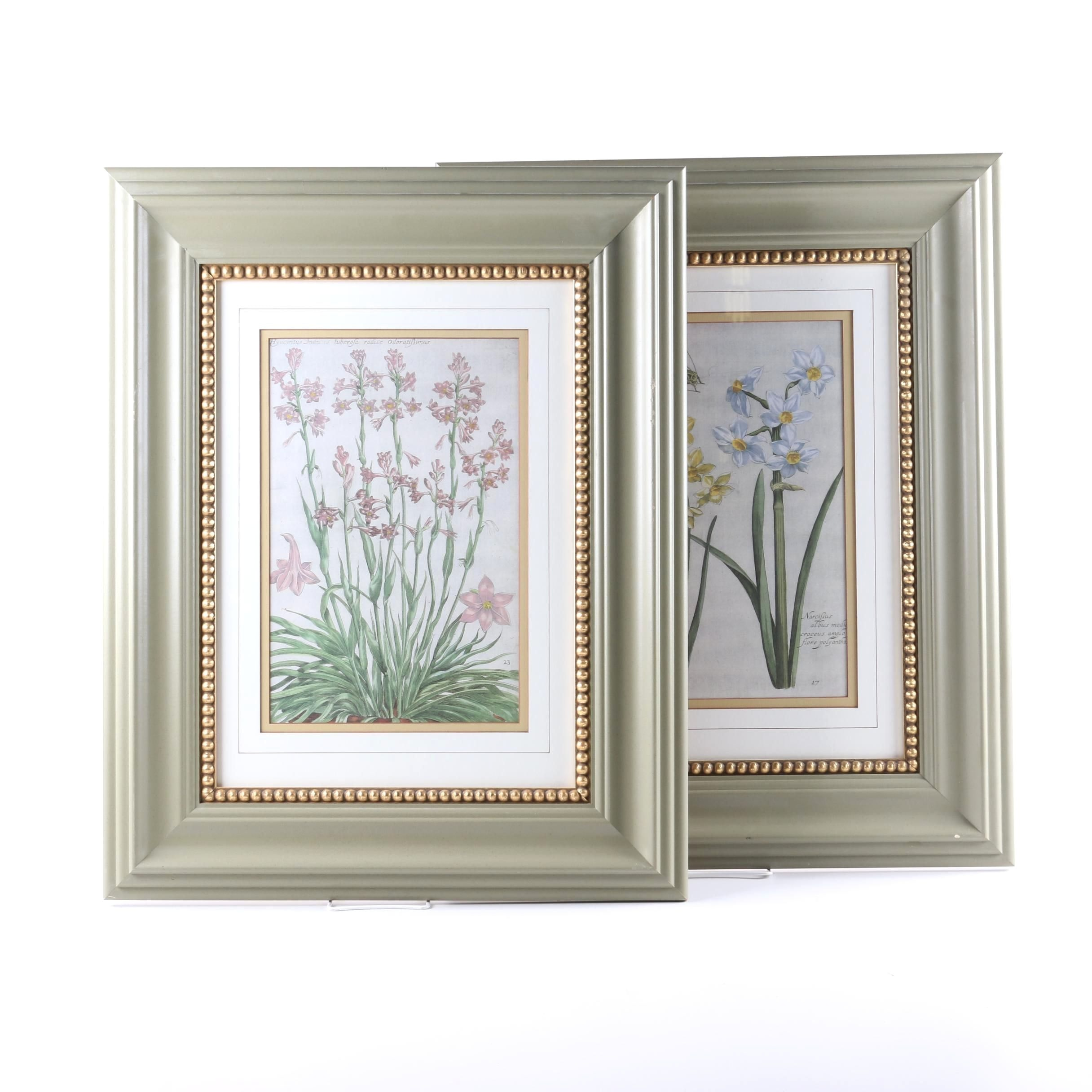 Pair of Floral Still Life Offset Lithographs