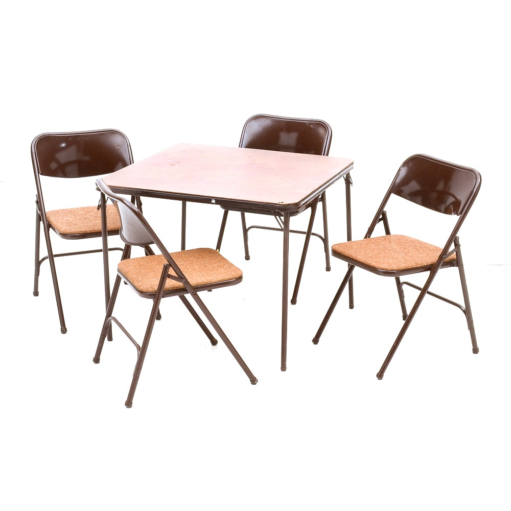 Samsonite Folding Table and Four Chairs EBTH