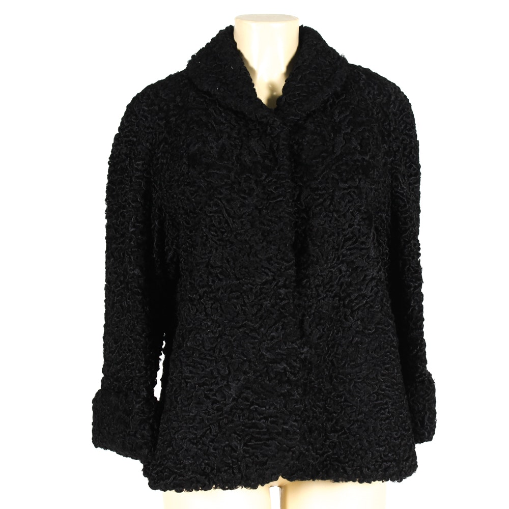 Curly Lamb Fur Jacket by Davidson's