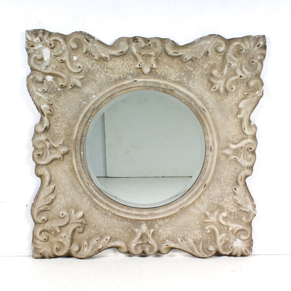 Uttermost Textured Finish Pressed Metal Wall Mirror