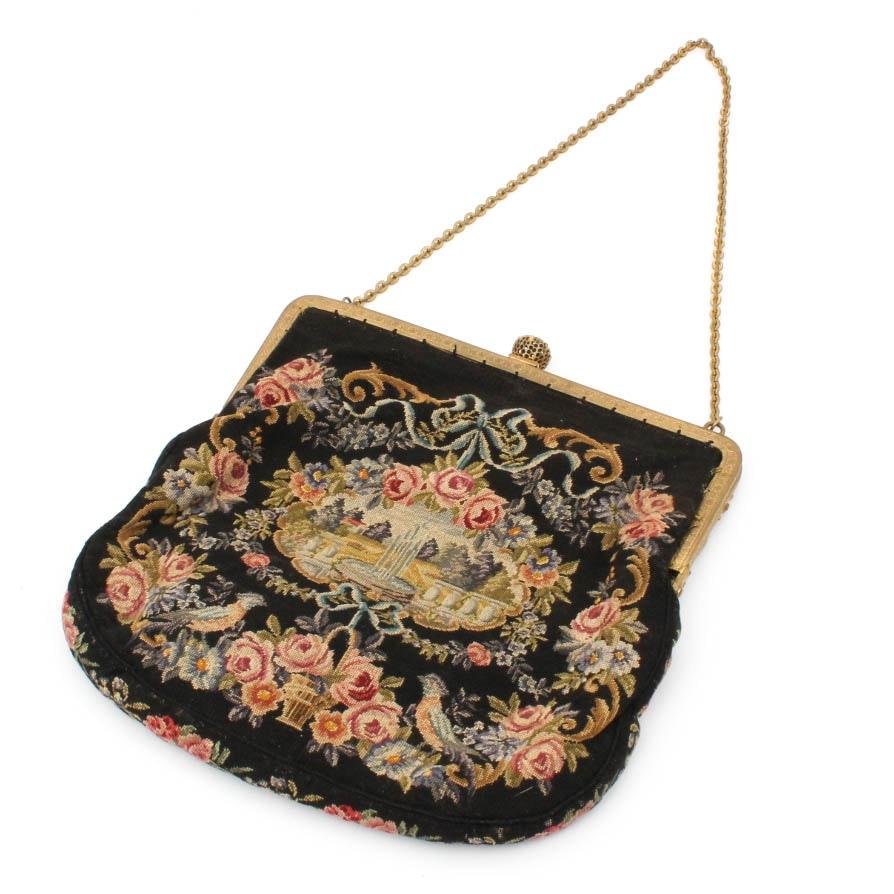 Antique Needlepoint Handbag Ebth