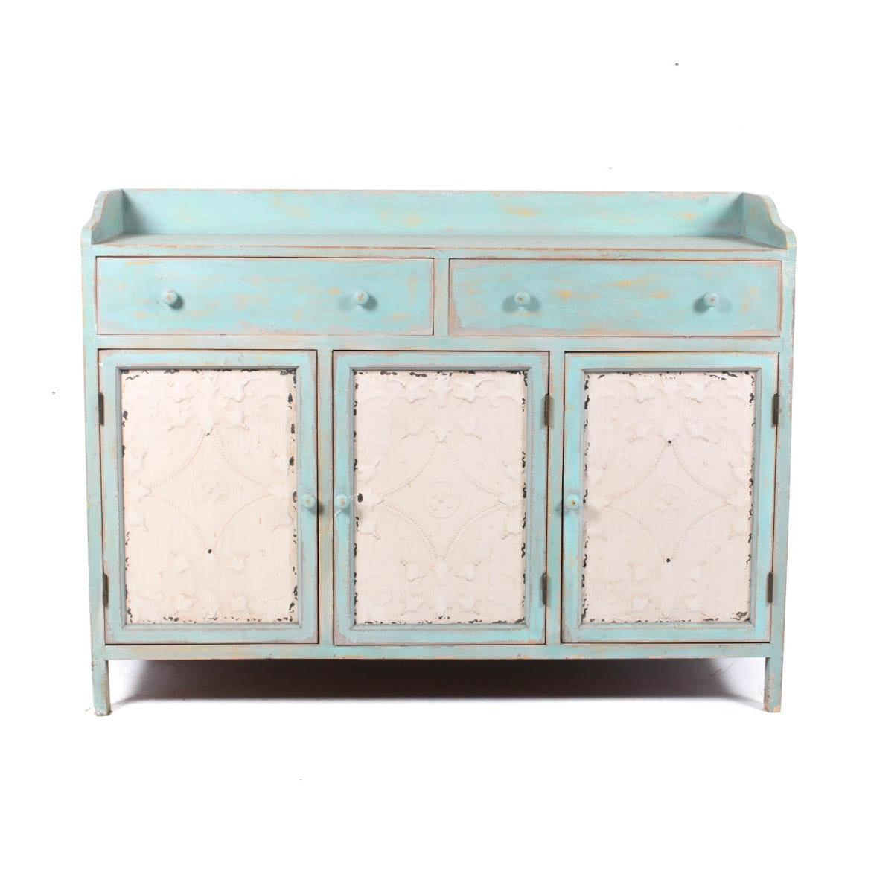 Aqua Antiqued Dresser