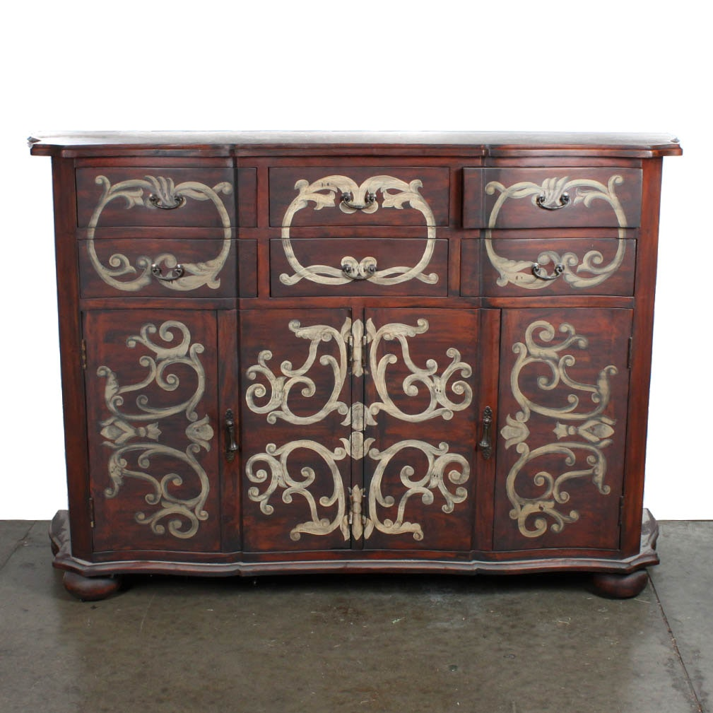 Guild Masters Hand Painted Credenza