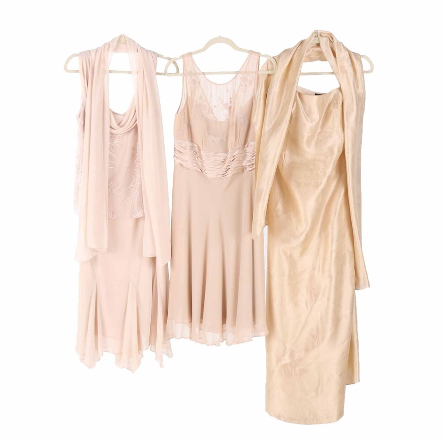 Beige and Nude Evening Gowns Including Patra and Lillie Rubin : EBTH