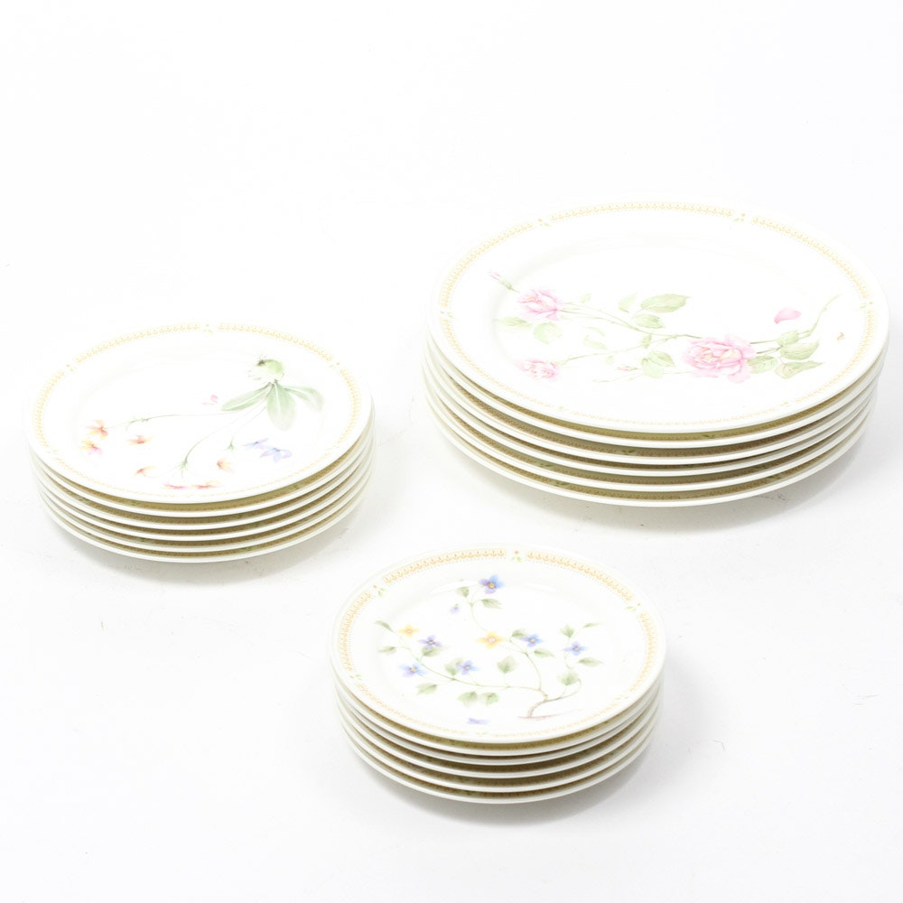 "Mikasa ""Nature's Garden"" China Place Settings for Six"