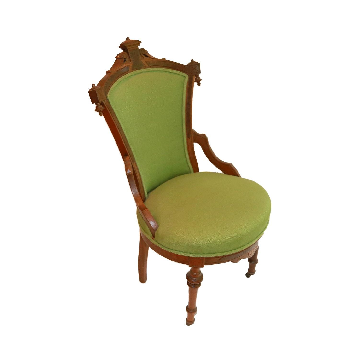 Late 19th Century Victorian Renaissance Revival Parlor Chair