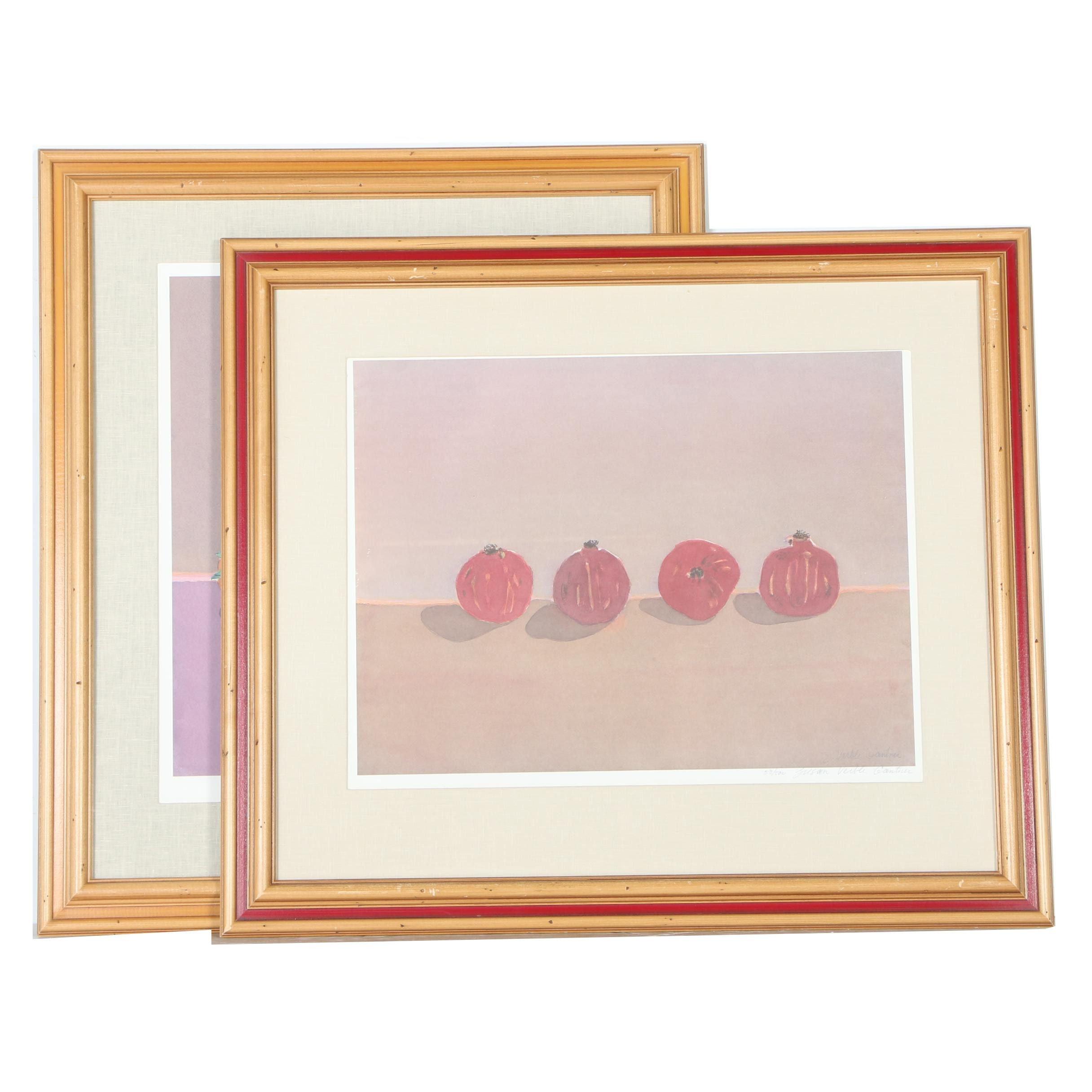 Susan Gantner Limited Edition Offset Lithographs of Fruit Still Lifes