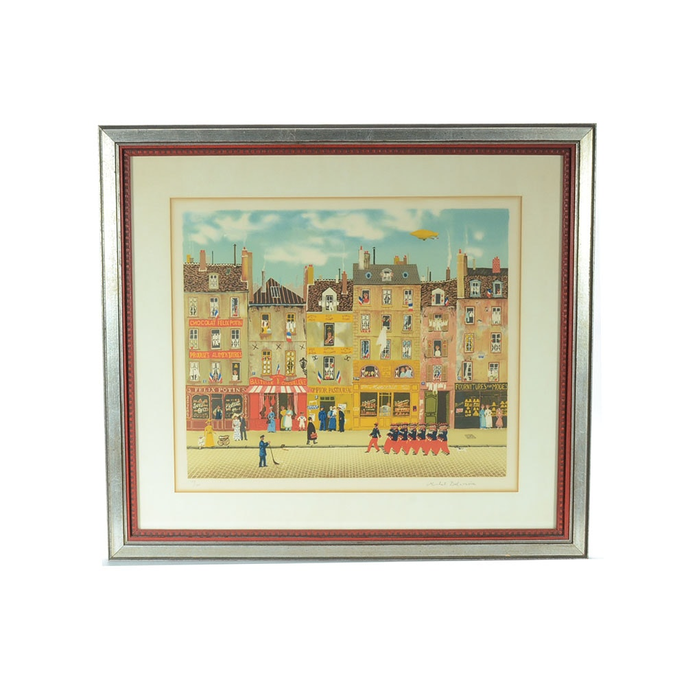 Michel Delacroix Signed Hand-Pulled Color Lithograph