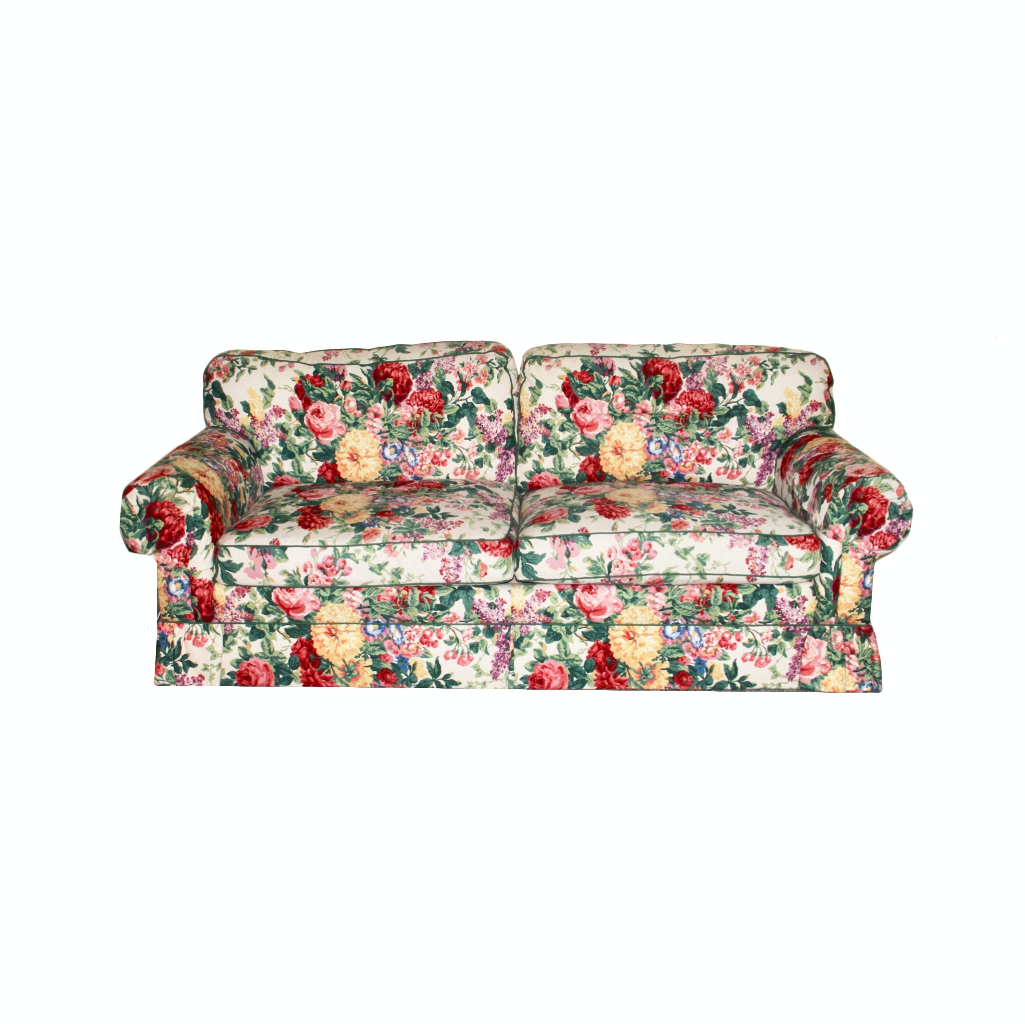 Thomasville Floral Upholstered Sofa