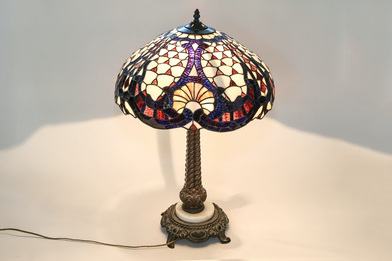 Antique Lamp Glass Shade