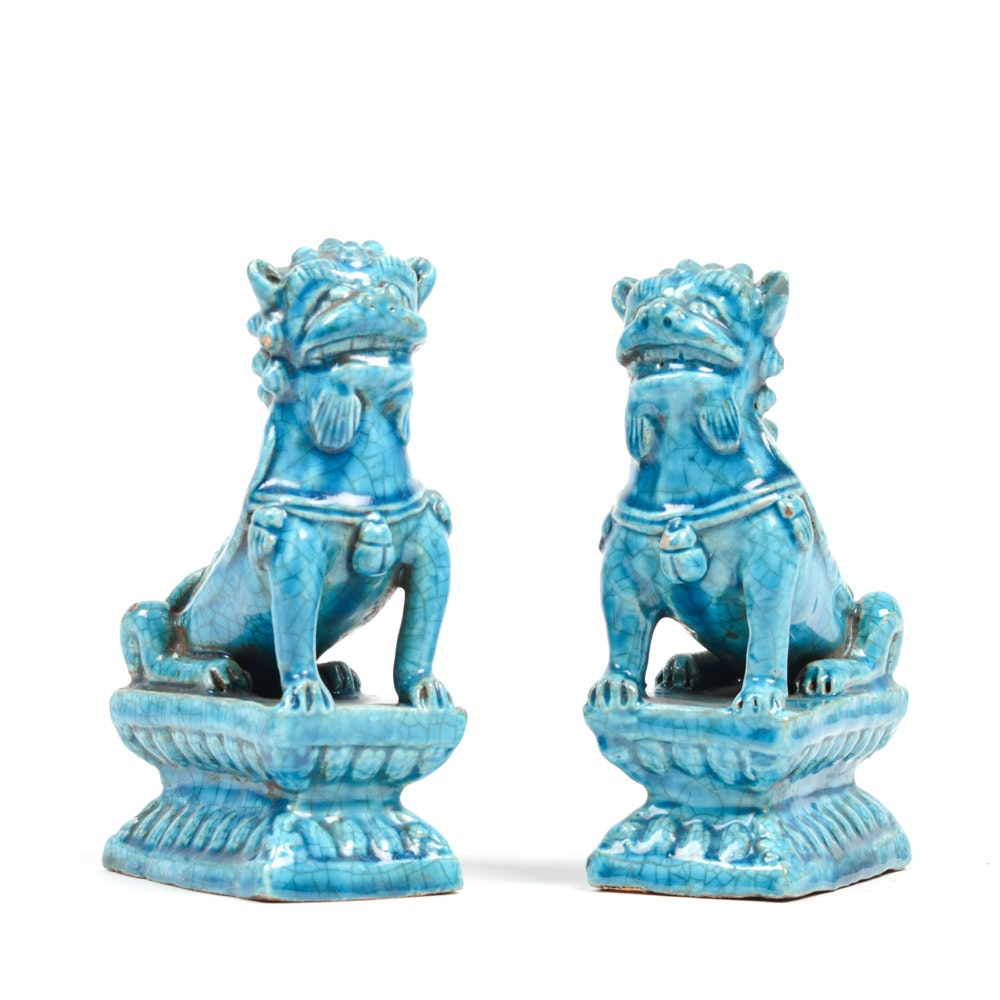 Chinese 19th Century Guardian Lion Figures