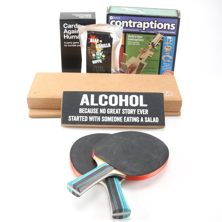 Party Games and Table Ping Pong Set : EBTH
