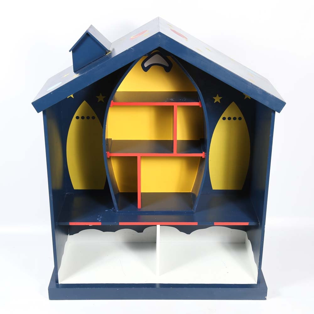 Outer Space Themed Dollhouse Bookcase Ebth