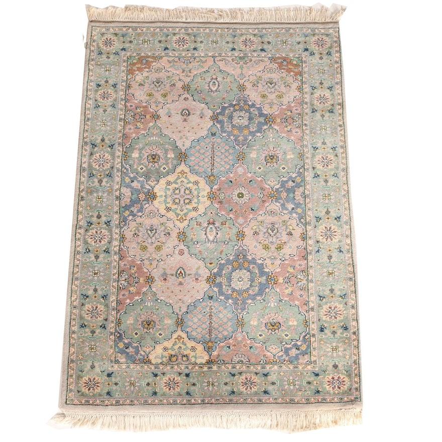 "Persian Hand Woven Bakhtiari Style Wool Area Rug Ebth: Hand-Knotted Nourison ""Star Of India"" Indo-Bakhtiari Area"