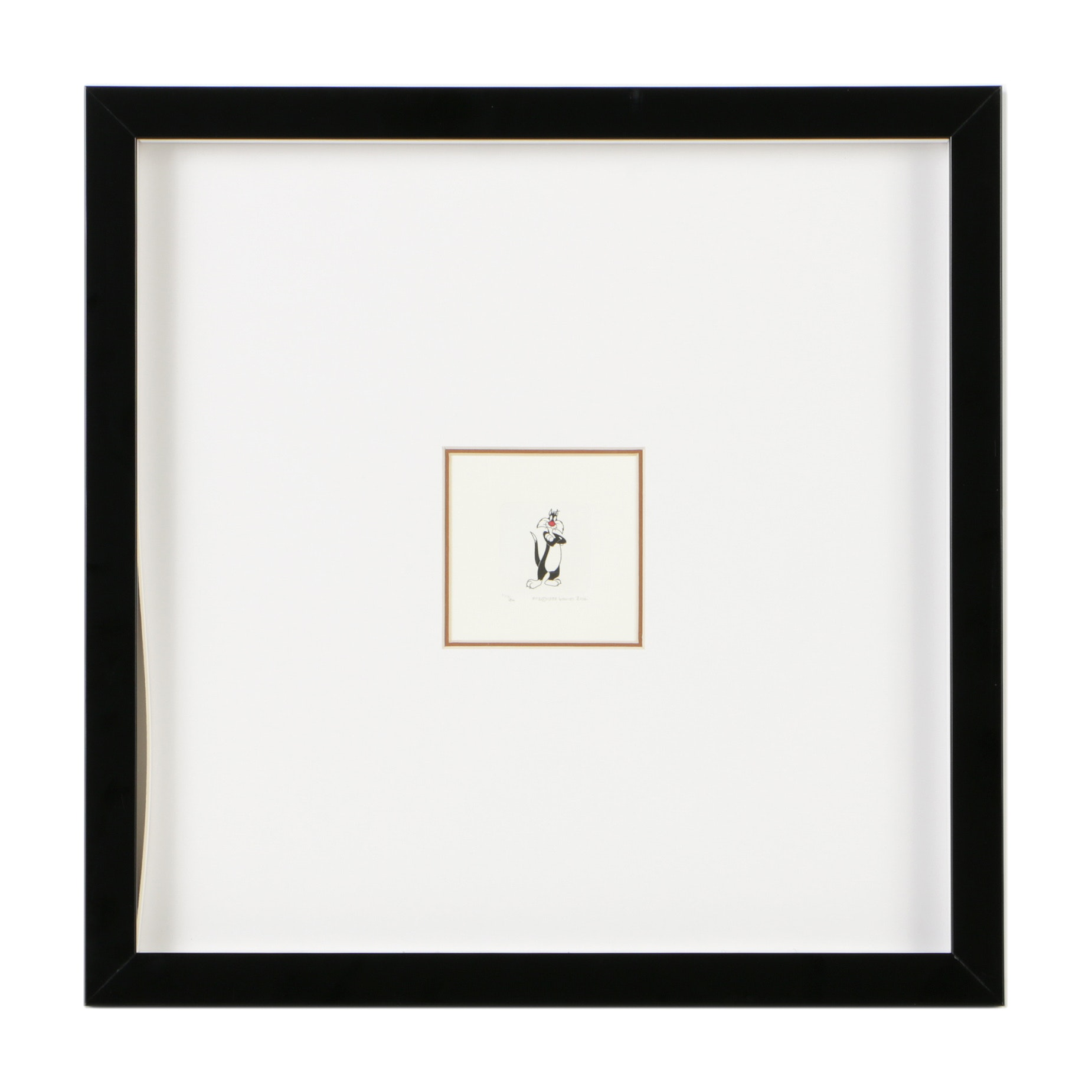 """Warner Bros Studio Limited Edition Etching on Paper """"Sylvester Etching"""""""