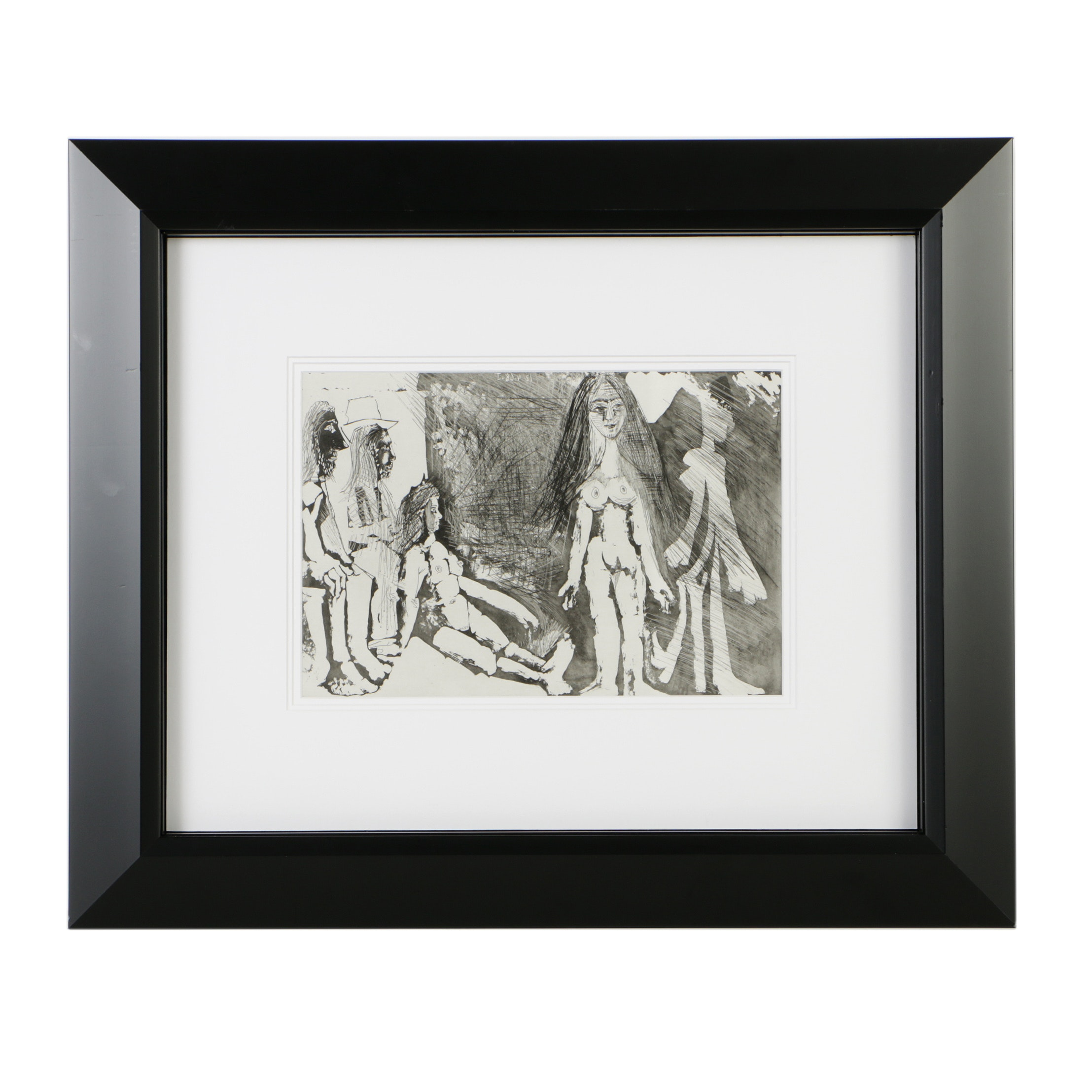 """After Pablo Picasso Offset Lithograph on Paper """"Jeune fille..."""""""