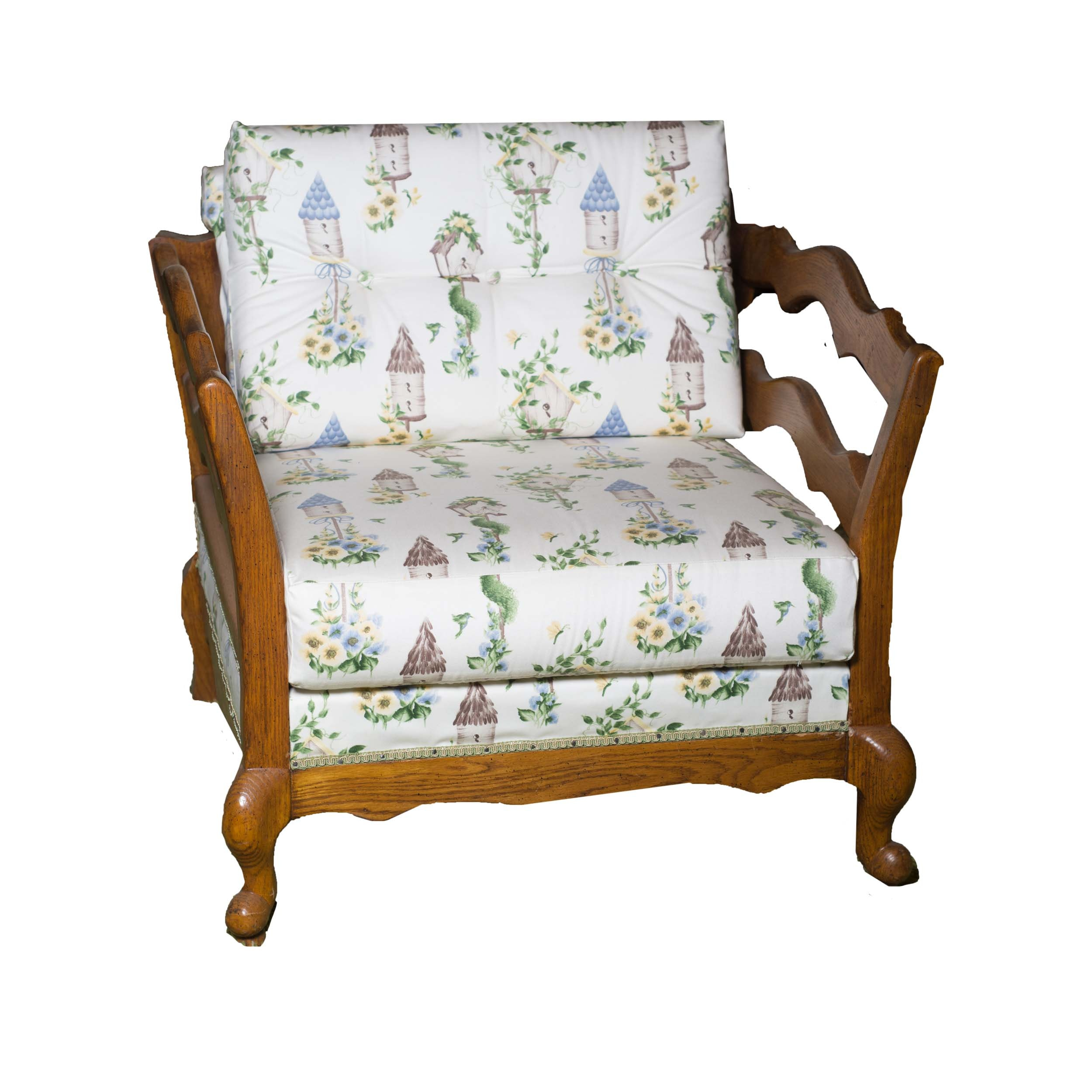 French Country Upholstered Armchair