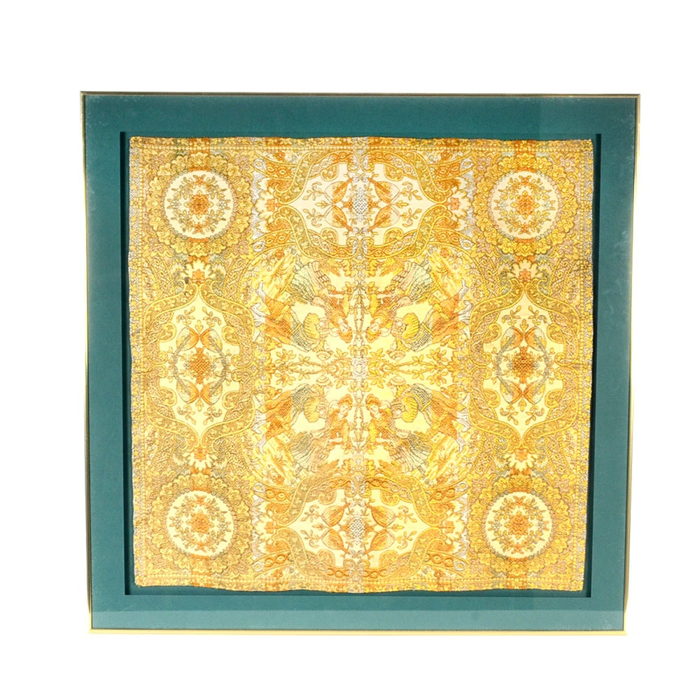 Framed Display of French Jacquard Woven Tapestry