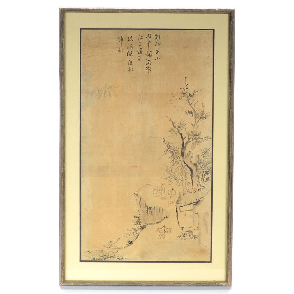 Original Chinese Ink Brush Painting on Paper
