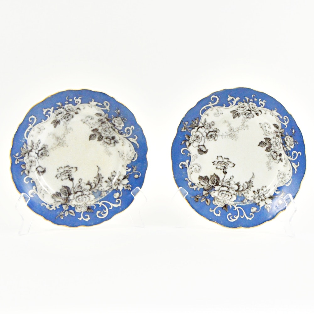 """Antique Thomas Dimmock and Co. """"Florentine"""" Plates"""