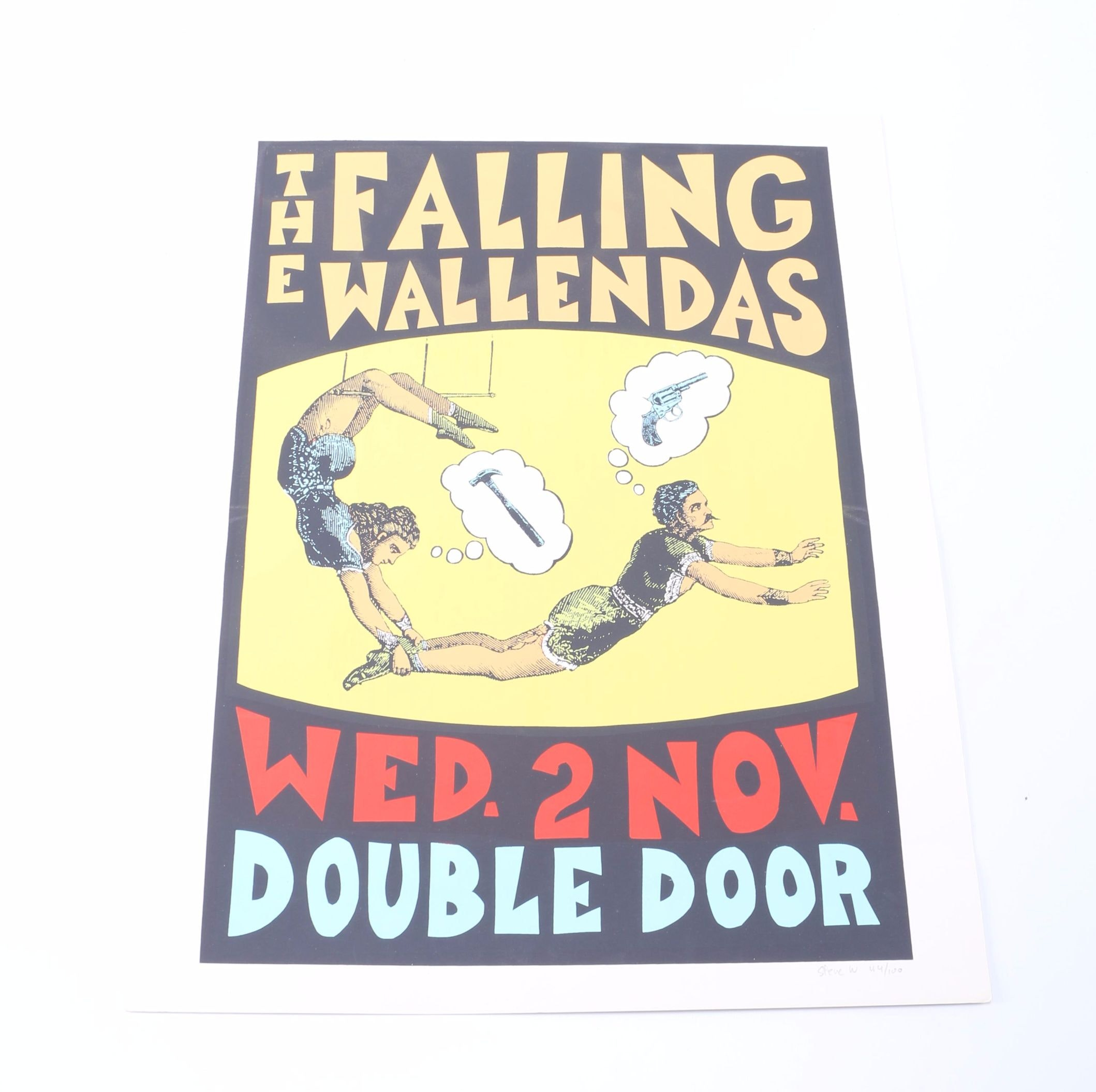 "Steve Walters Limited Edition Serigraph Poster ""The Falling Wallendas"""