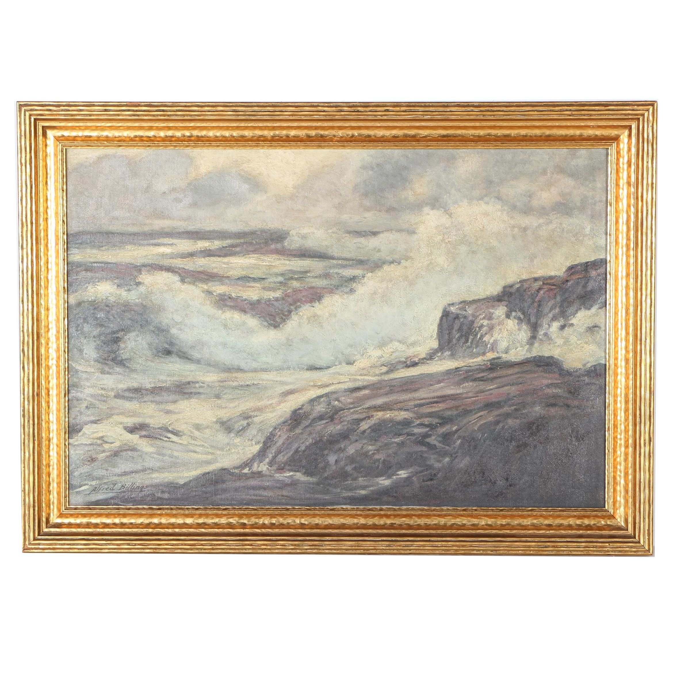 Alfred Billing Original Oil Painting on Canvas Seascape