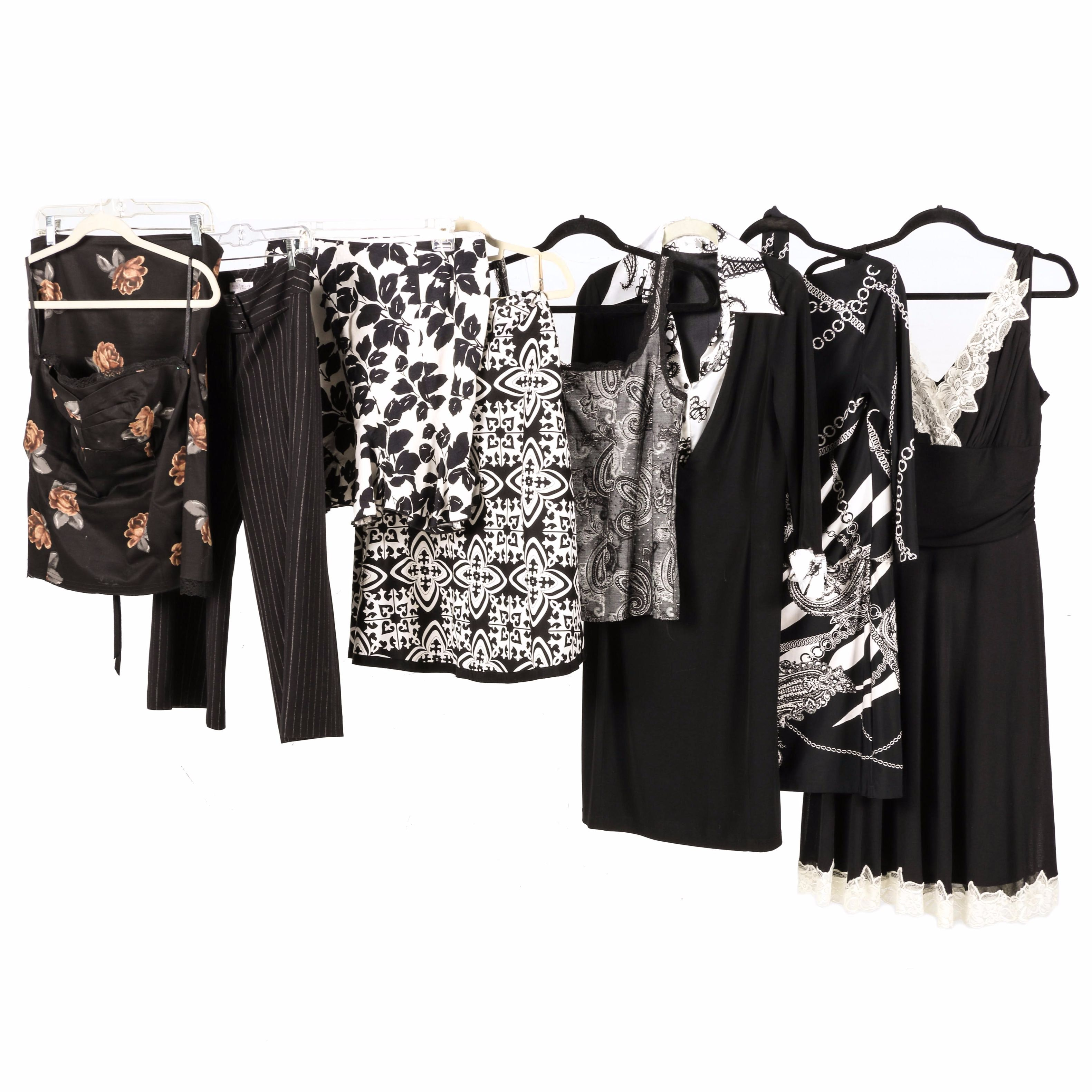 Women's Black and White Clothing Featuring White House Black Market