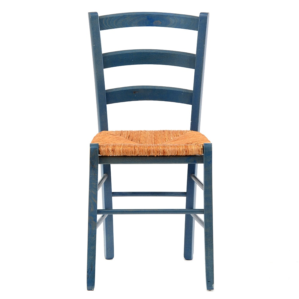 Ladder Back Counter Stools With Rush Seats