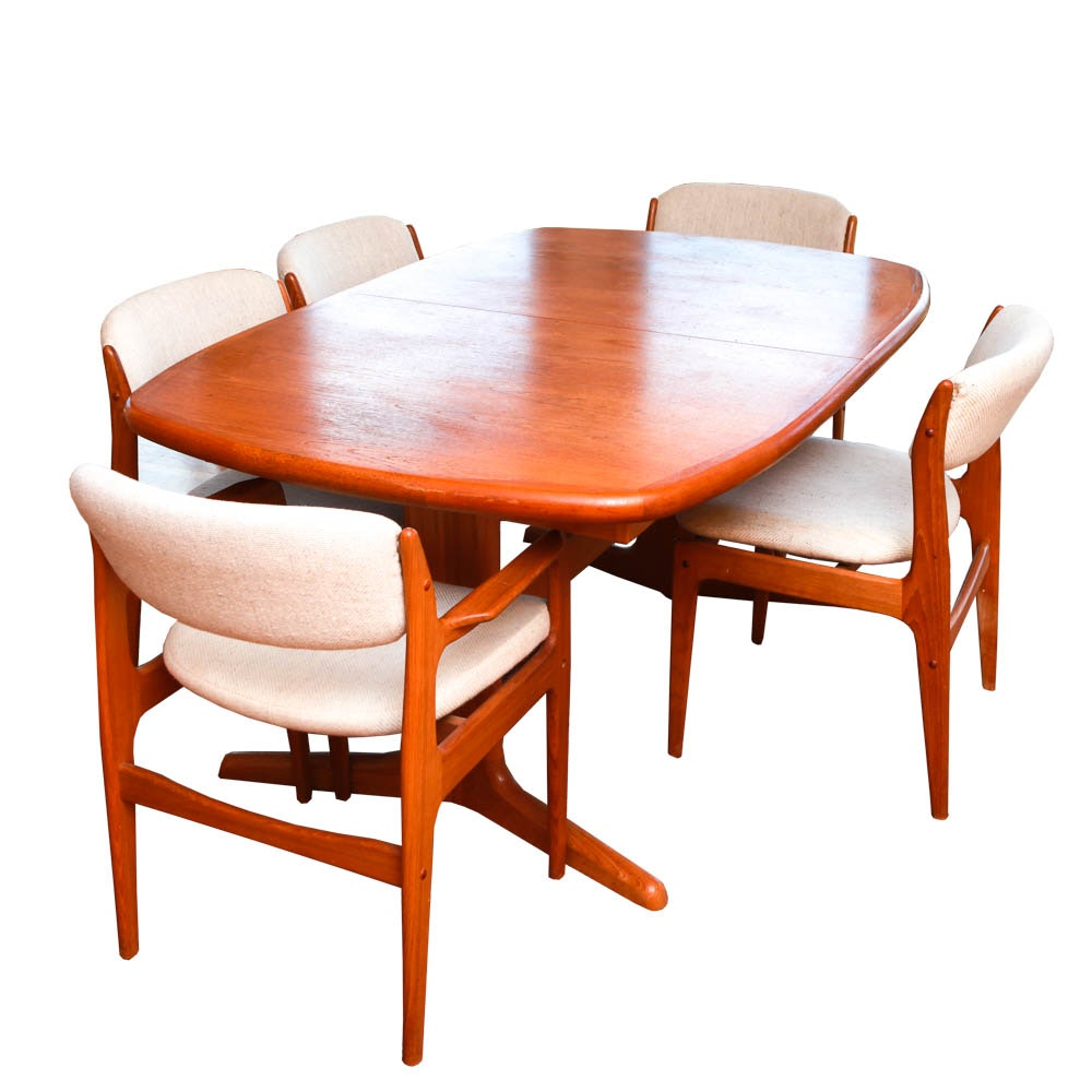 Charmant Danish Modern Teak Dining Set By Benny Linden ...