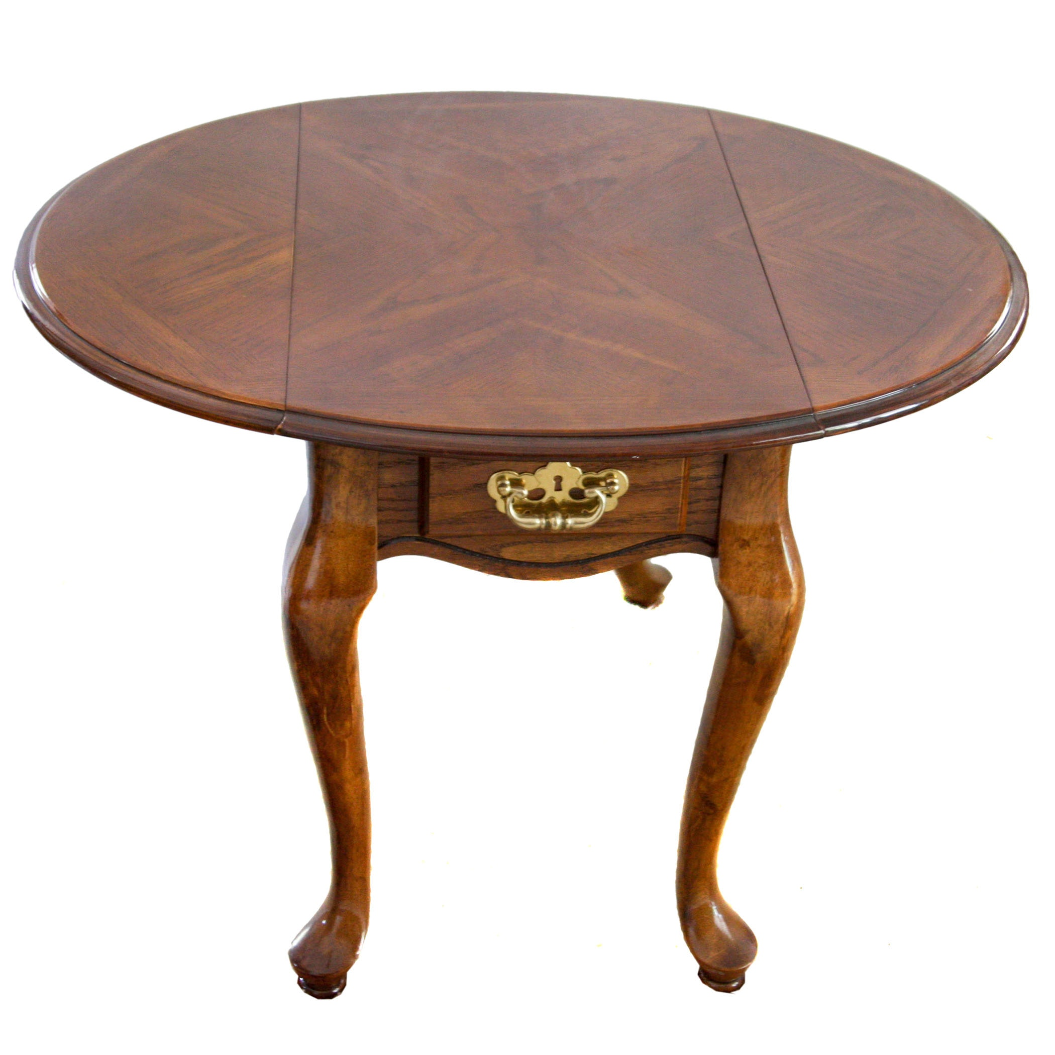 Queen Anne Style Drop Leaf End Table ...