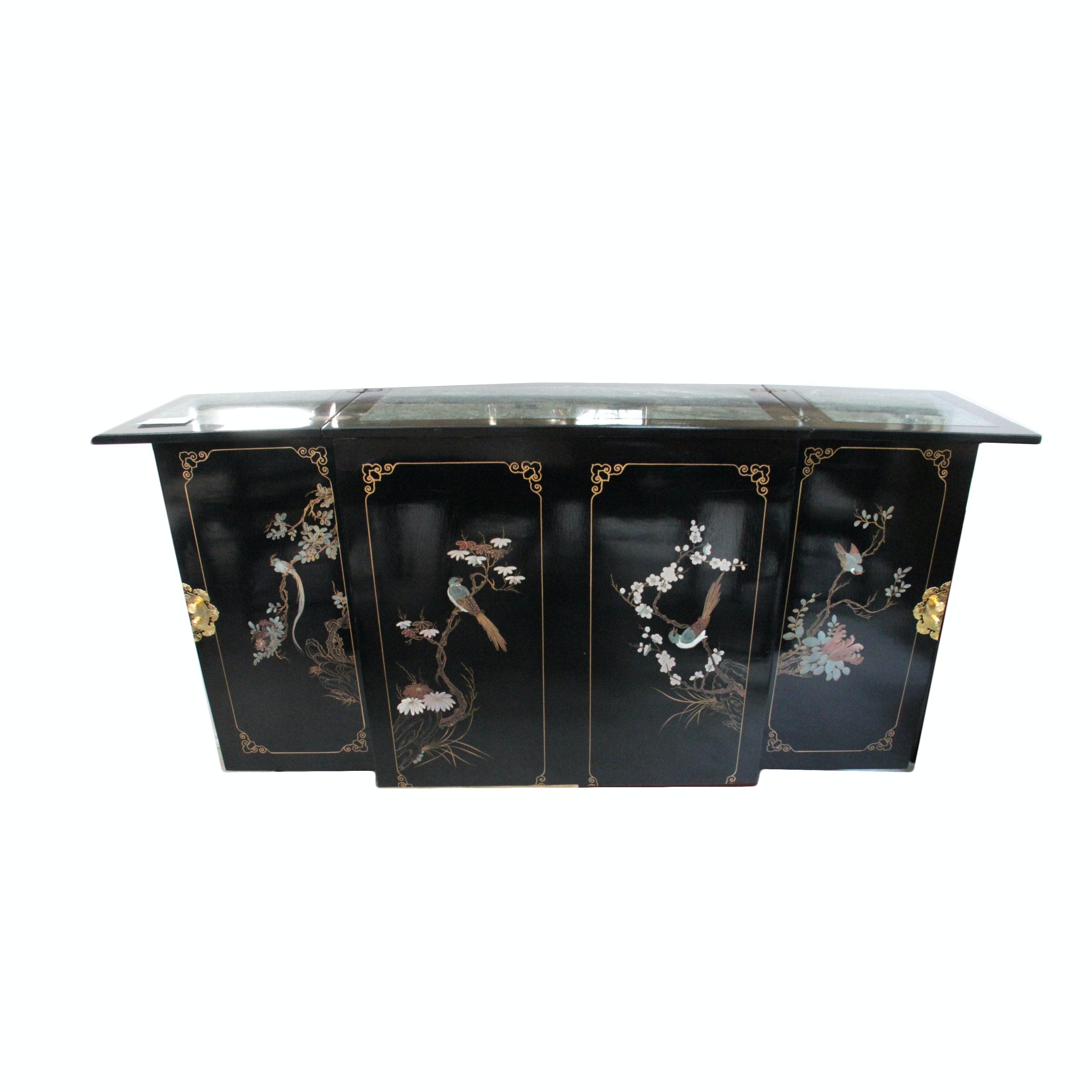 Chinoiserie Coromandel Lacquer Server Cabinet ...