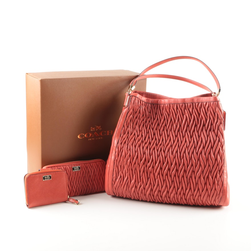 8fa68705d12e Coach Madison Bag and Two Wallets in Vermillion   EBTH