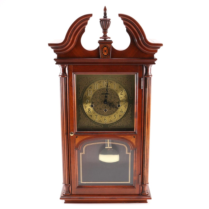 Howard Miller Wall Clock With Chimes Ebth