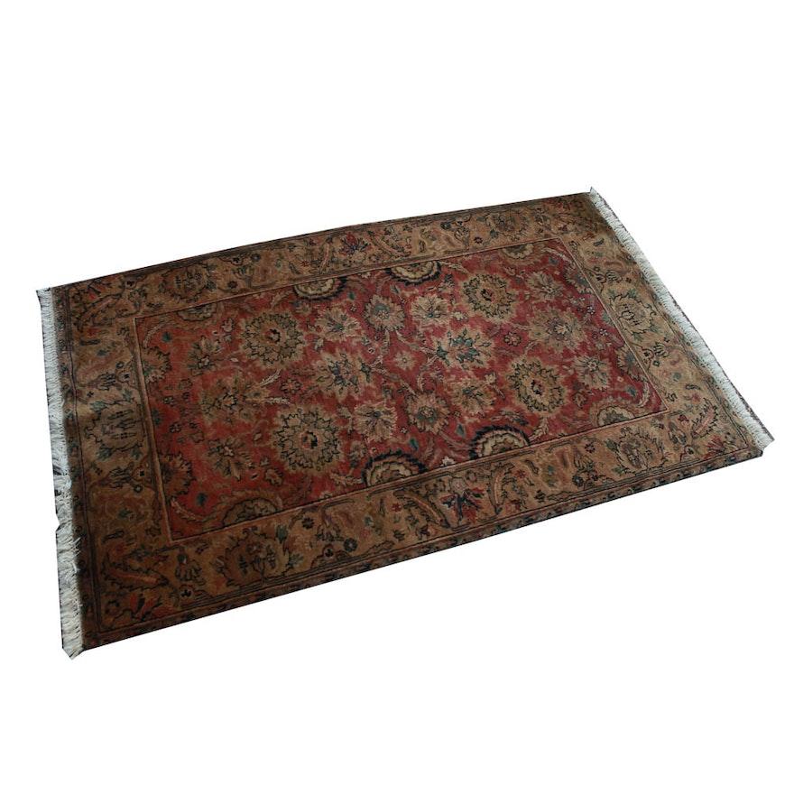 Persian Style Wool Area Rug Ebth: Power Loomed Persian-Style Wool Rug : EBTH