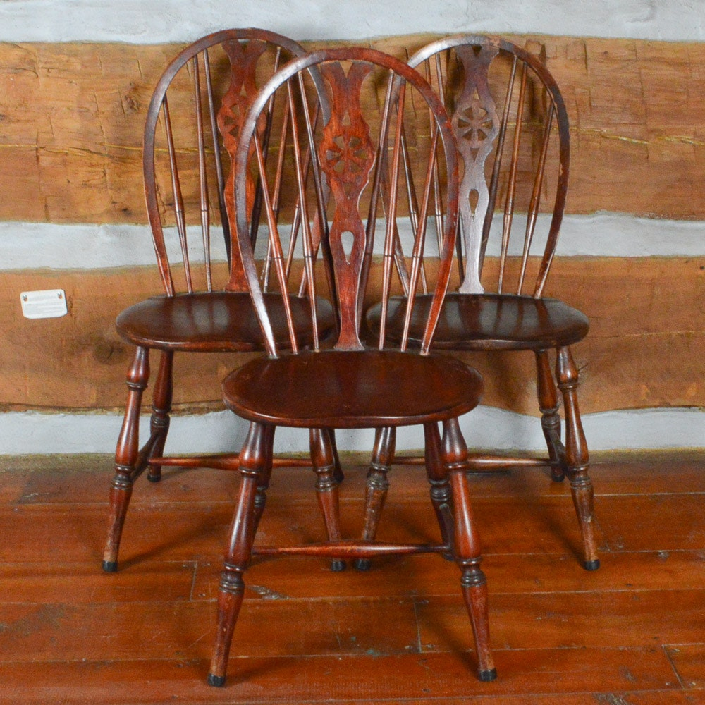 Antique Brace Back Windsor Chairs ...