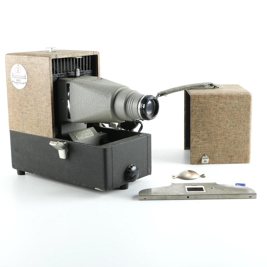 vintage polaroid 610 11mm slide projector ebth
