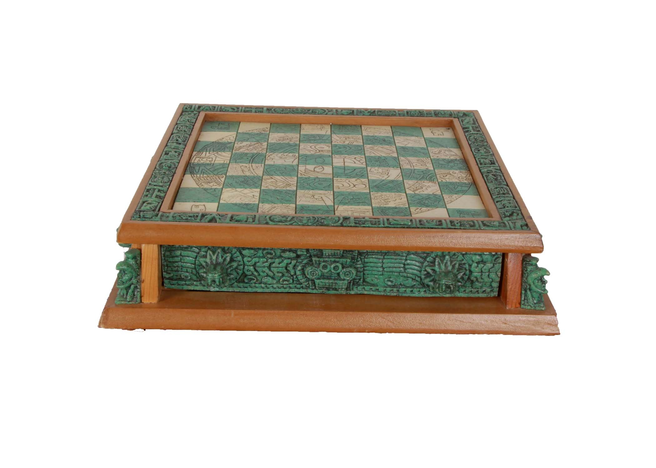 Aztec Chess Set; 1x1 ...
