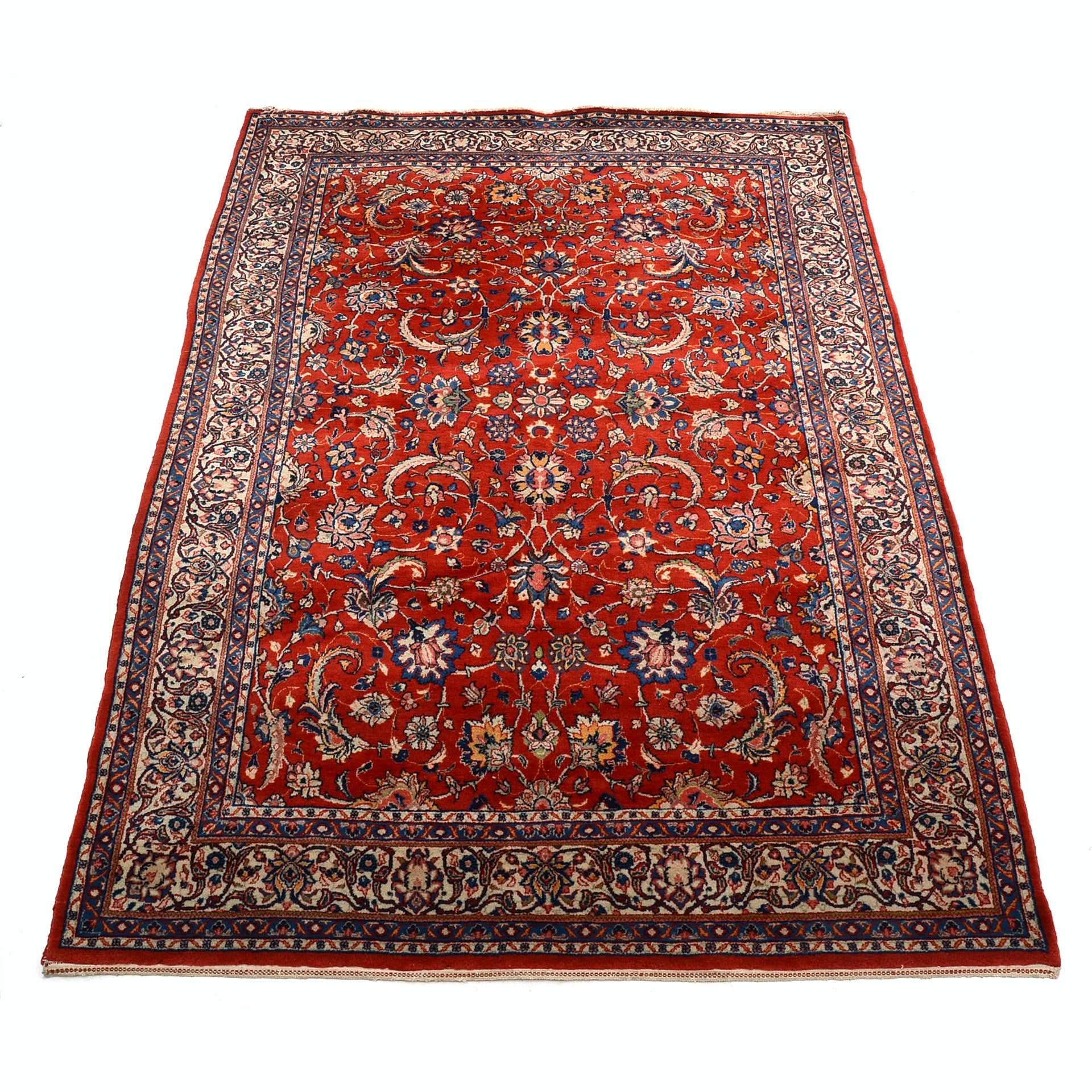 Hand Knotted Persian Inspired Area Rug