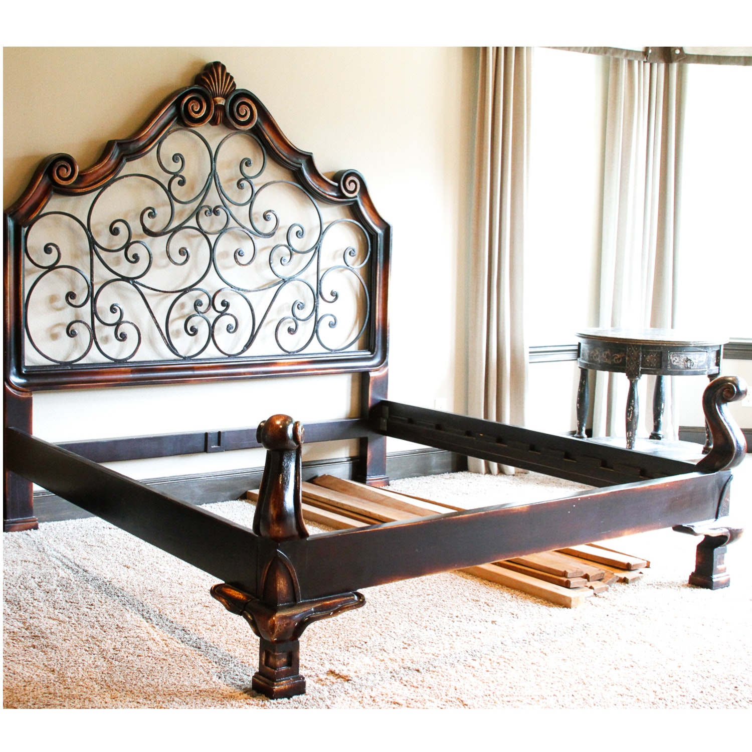 king size wrought iron bed frame