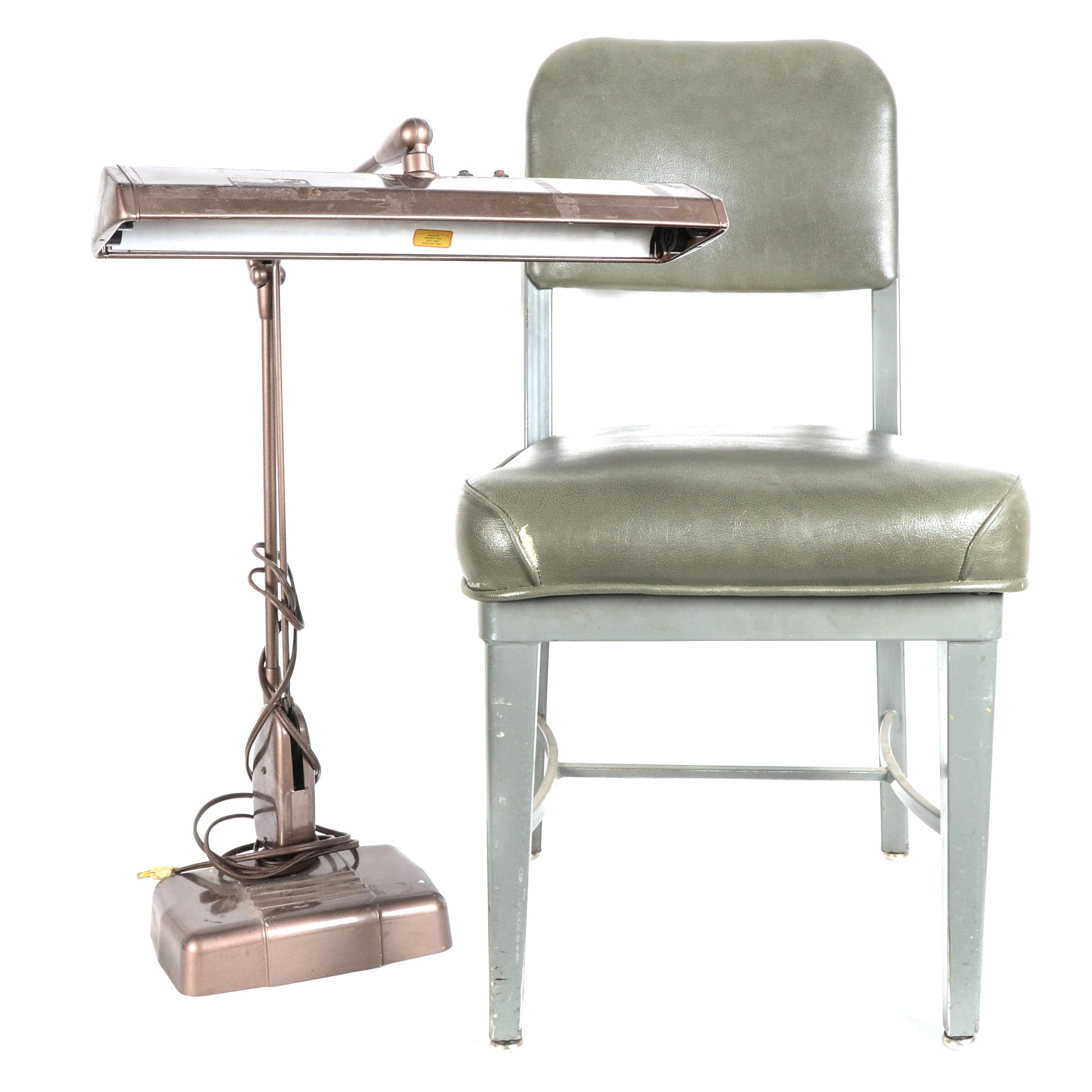 Mid-Century Office Chair and Desk Lamp