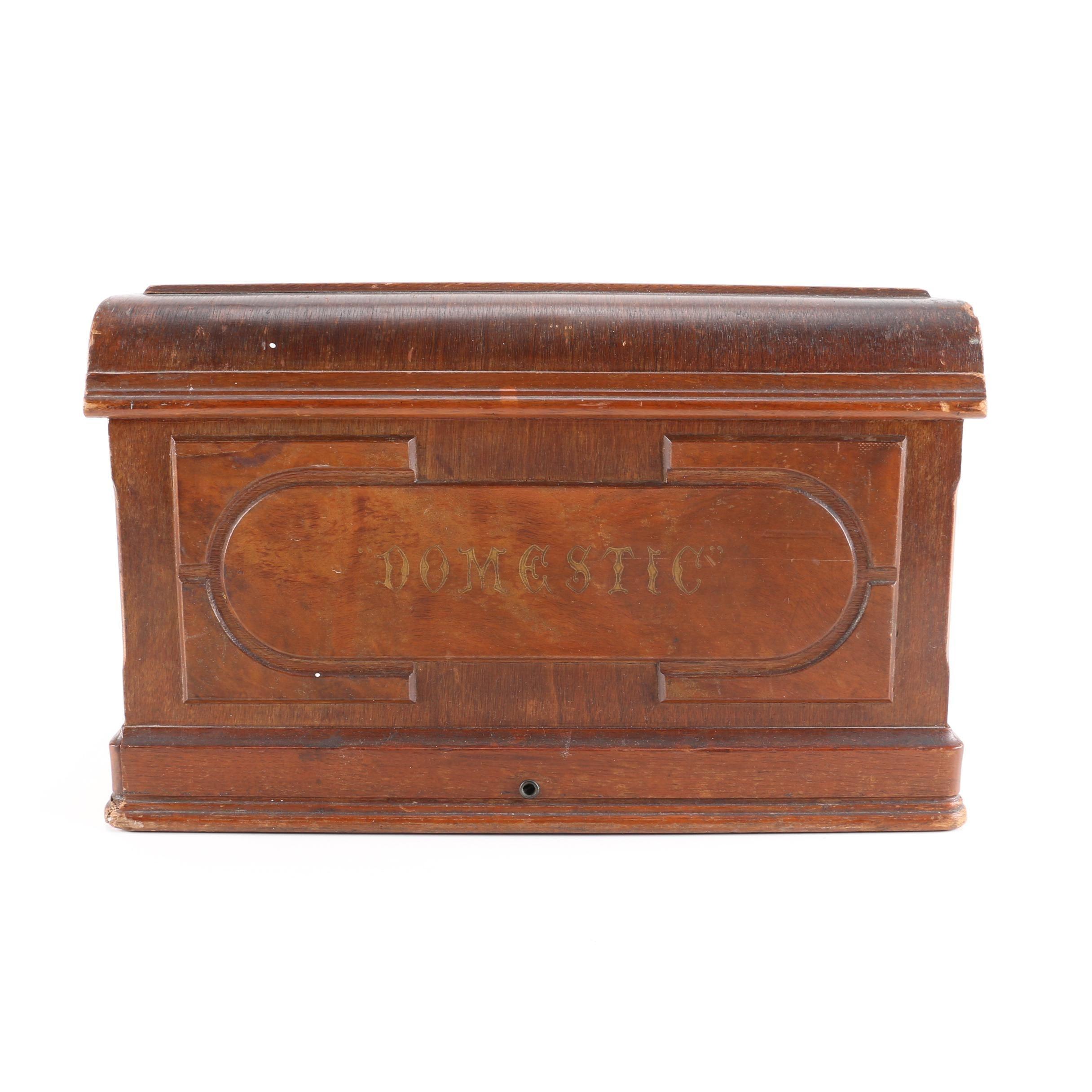 domestic antique sewing machine