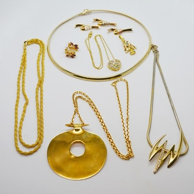 Collection of Gold Tone Jewelry