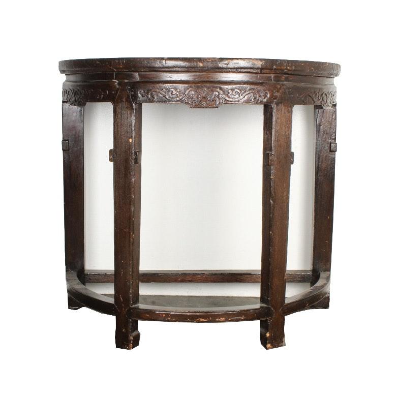 Antique Demilune Console Table